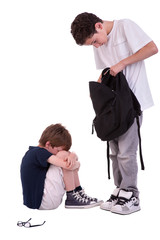 children suffering from bullying by a teen