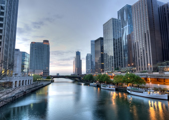 HDR of Chicago the Early Morning