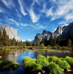 La pose en embrasure Parc Naturel Yosemite