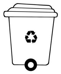 Rolling Plant Recycle Bin