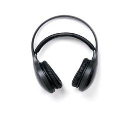 Wireless headphones isolated on white background