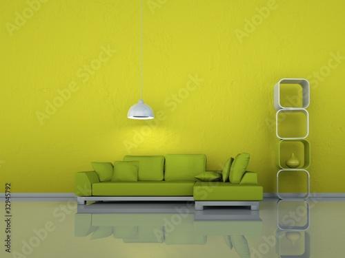 wohndesign gr nes sofa stockfotos und lizenzfreie bilder auf bild 32945792. Black Bedroom Furniture Sets. Home Design Ideas