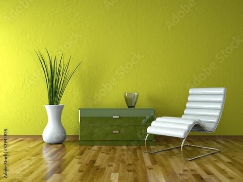 wohndesign ledersessel vor gr ner wand stockfotos und lizenzfreie bilder auf. Black Bedroom Furniture Sets. Home Design Ideas