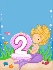 Mermaid Birthday Candle