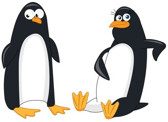 A couple of funny penguins