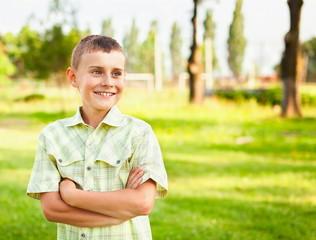 Happy boy outdoor