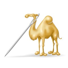 Fototapete - cammello nella cruna