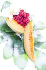 Frutta - Melone e lamponi