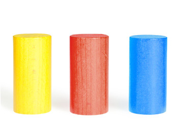 Wooden colour cylinders