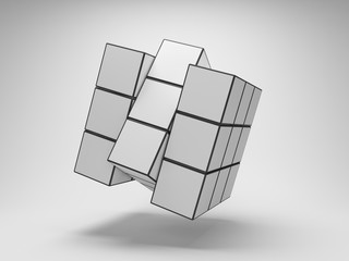 Array puzzle from cubes