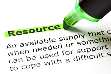 Dictionary definition of the word Resource