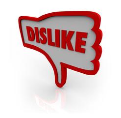 Dislike Thumb Down Hand Icon Shows Displeasure