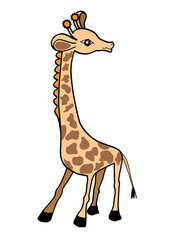 Giraffe.  Vector illustration for design, for  baby  scrapbook
