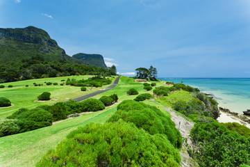 Golf Course by the Sea