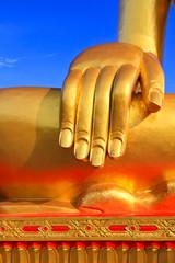 Hand of the buddha statue.