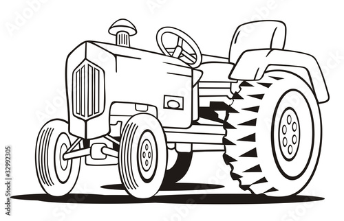 """""""Tractor Coloring Template"""" Stock Photo And Royalty-free"""