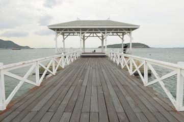 Asadang bridge at Sichang Island, Thailand
