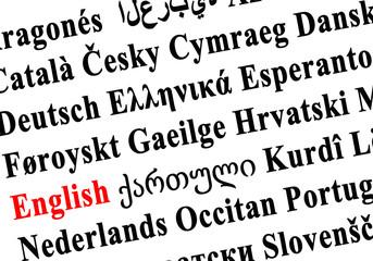 langues du monde - anglais