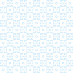 Seamless floral and dots pattern