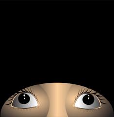 background with afraid eye