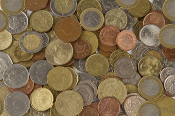 Background of group european coins