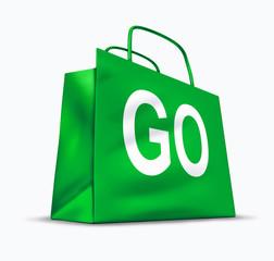 Go shopping symbol