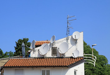 Satellitantennen