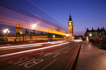 Fotomurales - Westminster, London Night View