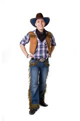 man in a black cowboy hat