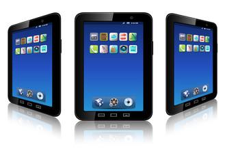 Mobile phone, smartphone, vector.