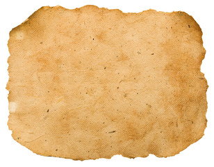 old paper sheet .