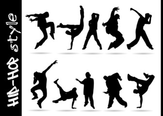 hip hop silhouettes