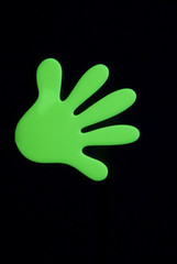 Growing Green Ultra Violet Hand Isolated on Black