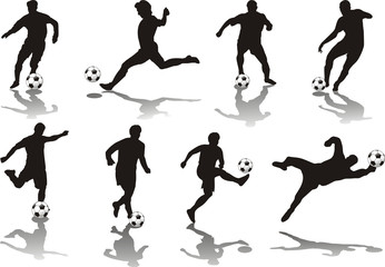 soccer player isolated o white