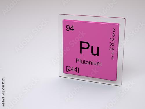 Plutonium Symbol Pu Chemical Element Of The Periodic Table