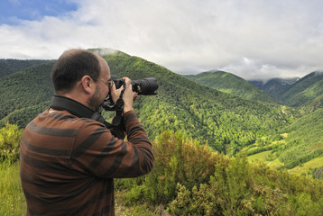Fotografiando el valle.