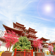 Foto op Plexiglas Singapore Singapore china temple