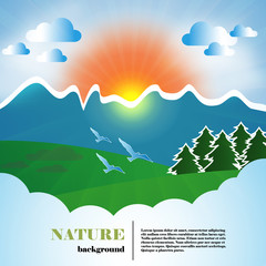 Nature web and print template