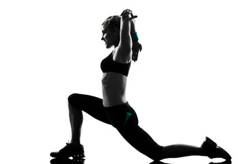 Wall Mural - woman workout fitness posture