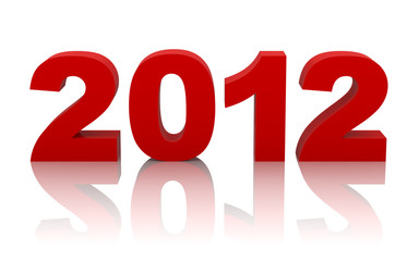 new year 2012 with clipping path