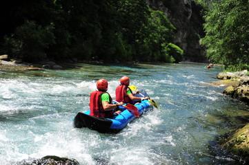 Rivière en rafting