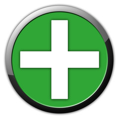 Plus Symbol Rundes Icon