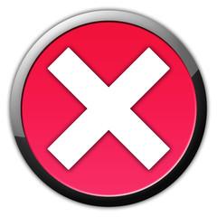Abbruch Button Rot