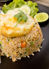 Crab fried rice with fried egg