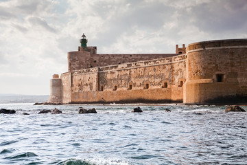 Maniace Castle in Sicily, Syracuse, Italy Fototapete