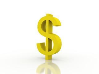 3d rendering Dollar symbol