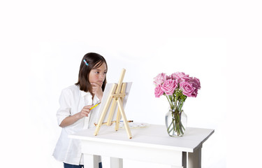 Thinking on how to paint flowers.