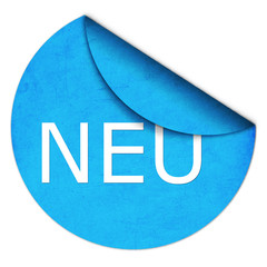 Sticker NEU Blau
