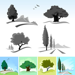 LATEST !   CALLIGRAPHIC TREE ICONs AND SYMBOLS