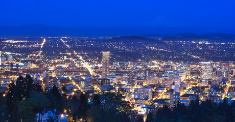 Wall Mural - Beautiful Night Vista of Portland, Oregon